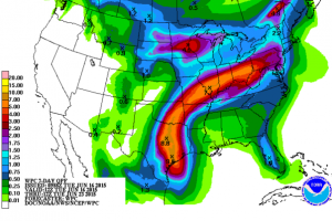 Rain potentials over the course of the next few days.