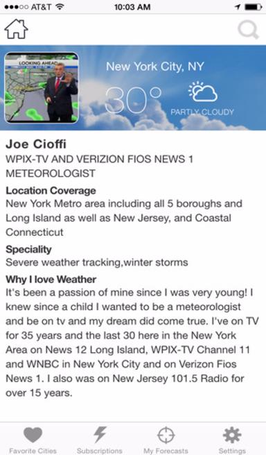 meteorologist app