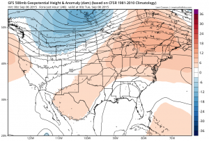 Gfs upper air forecast for Monday Evening