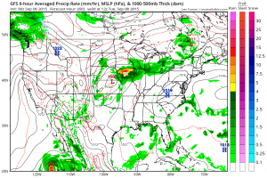 GFS Forecast for Tuesday Morning