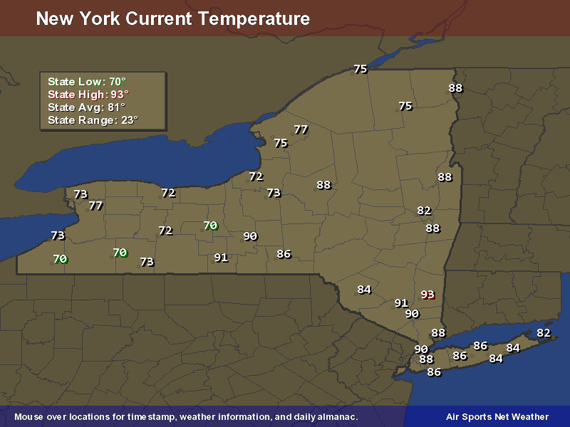 NY STATE TEMPS 2PM
