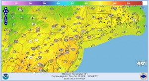 Weather forecast new york new jersey connecticut eastern pennsylvania
