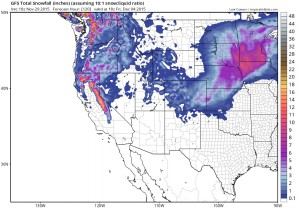 gfssnow2 snow forecast ski resorts