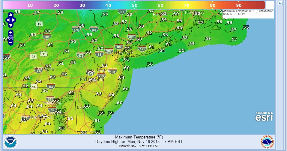 Week Ahead Weather Forecast NY NJ CT,PA Colder Thanksgiving