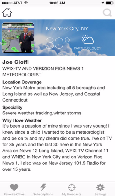 Meteorologist App Weather App Joe Cioffi