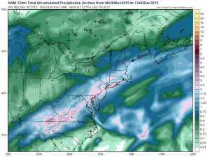 long island precip forecast