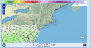 precip northeast ski resorts