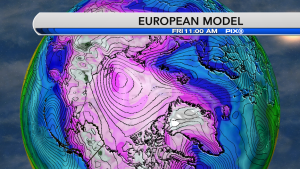 ECMWF Movable Temp Update European weather model