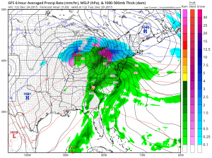 gfs weather model snow & ice