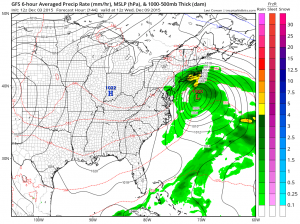 gfs144 coastal low