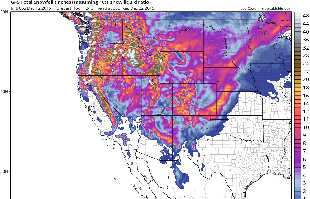 snow forecast ski resorts