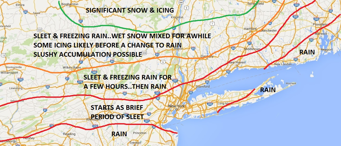 northeast snow ice sleet & freezing rain