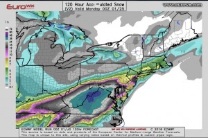 EUROSNOW european model brings snow north