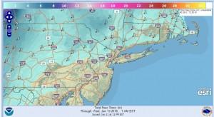 snow for nyc snowfall forecast