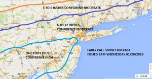 JOESTRADAMUS Snowfall Forecast First Call
