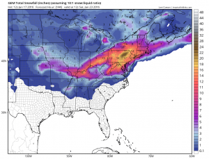 gemsnow Models forecasting Late Week Snow Threat
