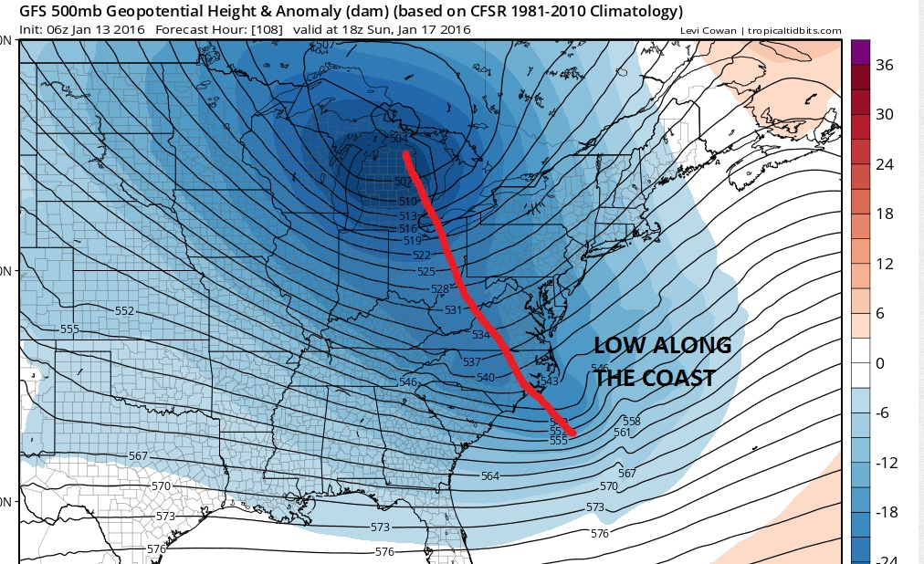 chance for snow