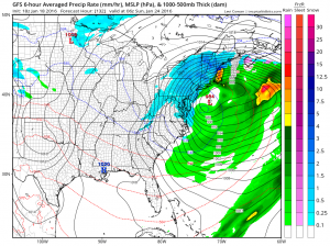 gfs132 Cold Temperatures Dry Through Friday