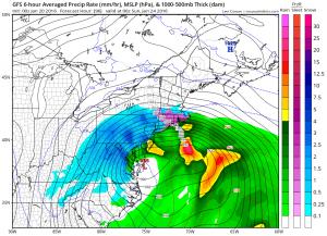 gfs96 GFS MODEL REMAINS BULLISH FOR SNOW