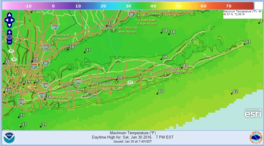 Long Island Weather: Warming Up
