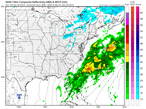 nam60 Rain With A Little Wet Snow Tonight