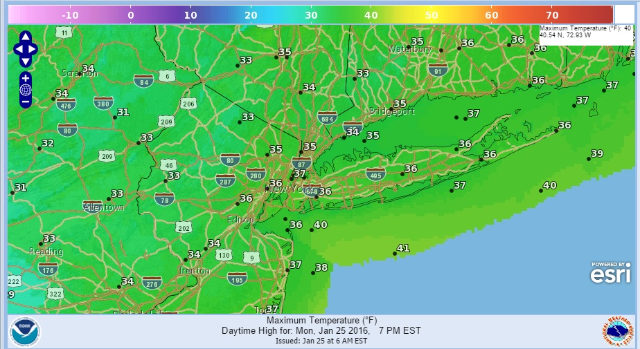 Milder Air Moving To Northeast