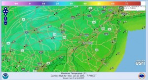 philadelphia Milder Air Moving To Northeast