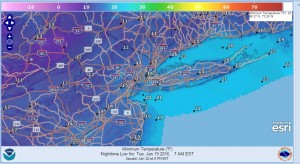 cold temperatures dry through friday