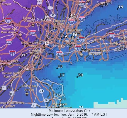 nyc weather freezer door cold