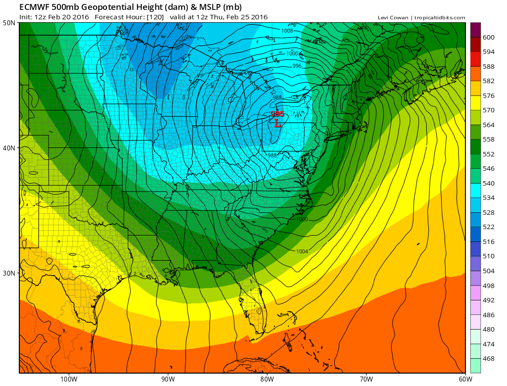 Euro Model Major Storm Threat Midweek EURO MODEL THURSDAY MORNING