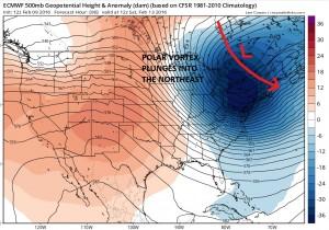 euro96 NYC Temperatures Below Zero Sunday?