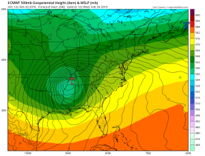 Euro Model Major Storm Threat Midweek