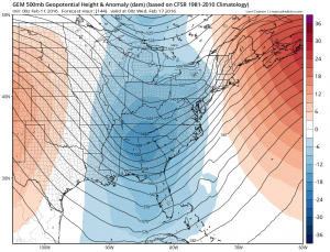 gem144 GFS Long Range Model Winter Storm Threat