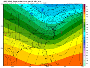 geps Euro Model March Snow Threat