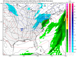 gfs138 Snow Ice Rain coming Monday