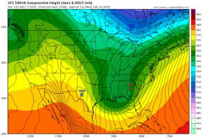 gfs168 European Model Aggressive Next Week Storm Signal