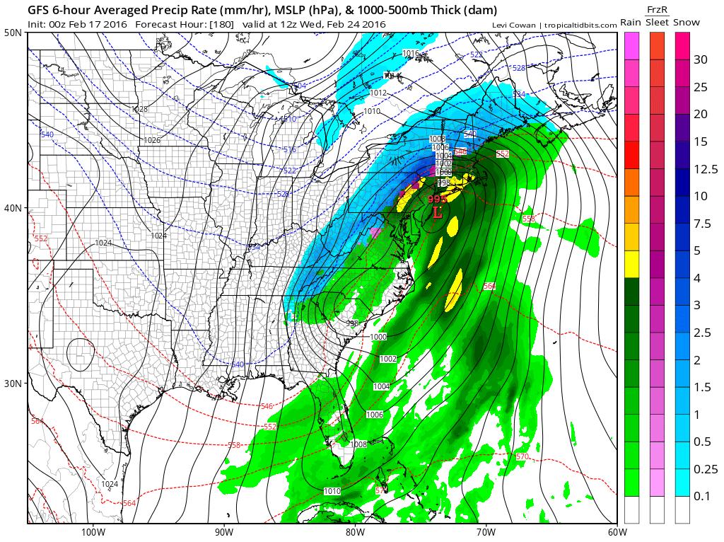 GFS Long Range Model Storm Signals