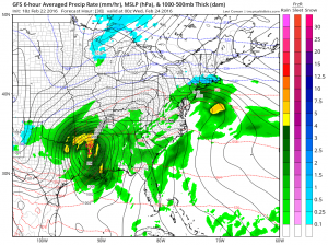 gfs300 Snow Rain Tuesday Rain Wind Wednesday