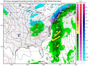gfs84 Snow Possibility Wednesday