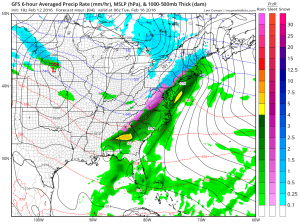 gfs84 Snow Ice Rain coming Monday