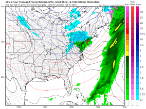 gfs96 Snow Possibility Wednesday