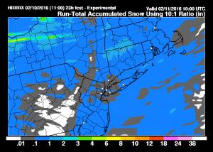 hrrrsnow Snow Showers Continue
