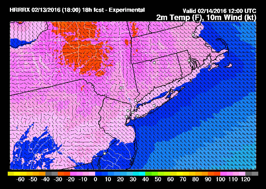 Sub Zero Temperatures Sunday Morning