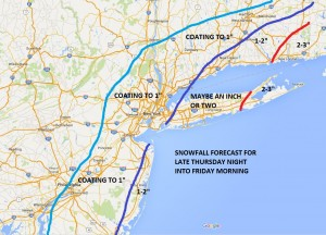 joessnow02032016 Snow Accumulation Forecast For Friday AM