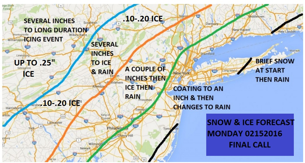 Presidents Day Snow Ice Forecast