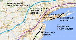 Meteorologist APP Snowfall Forecast