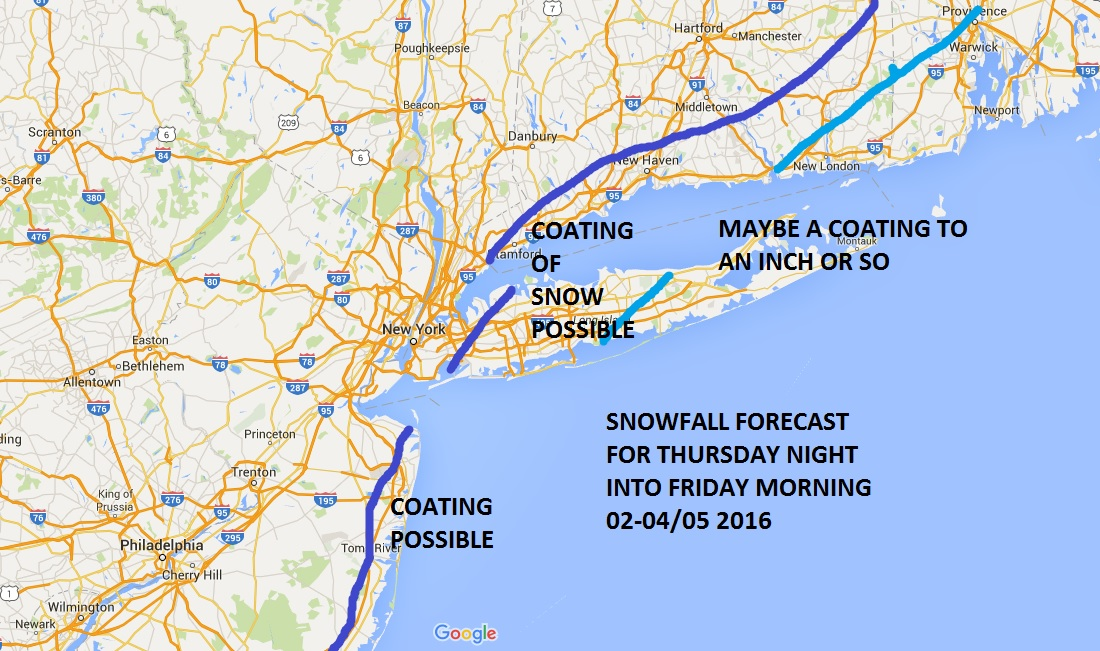 snowfall forecast models