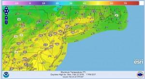 rain tonight colder monday