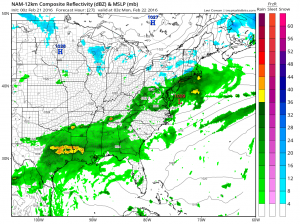 nam27 Springtime Weather Continues Sunday