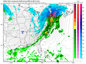 nam33 NAM Model Late Week forecast
